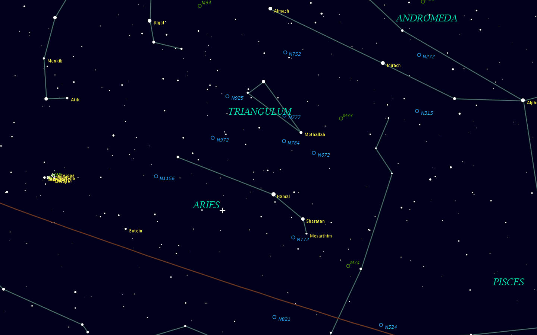 aries constellation within nebula - photo #17